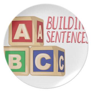 Building Sentences Plates