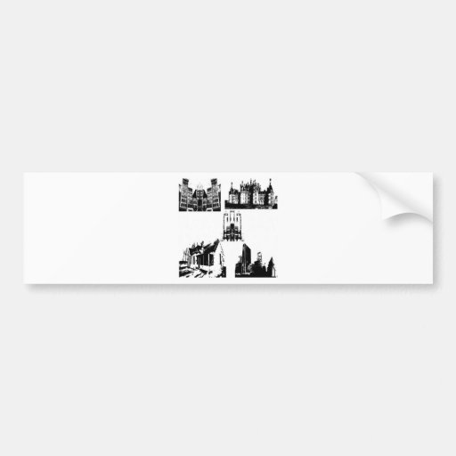 Building series design bumper stickers