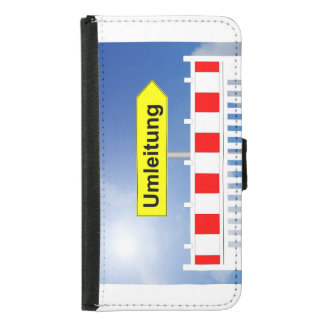 Building site, bypass and building site closing samsung galaxy s5 wallet case