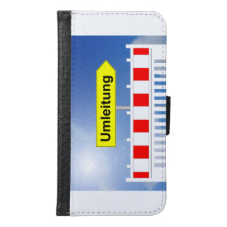 Building site, bypass and building site closing samsung galaxy s6 wallet case