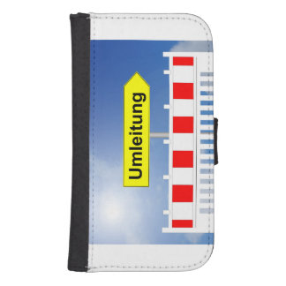 Building site, bypass and building site closing samsung s4 wallet case