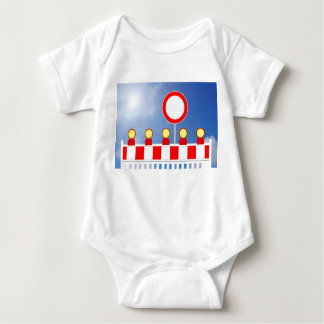 Building site closing and passage forbade Schil Baby Bodysuit