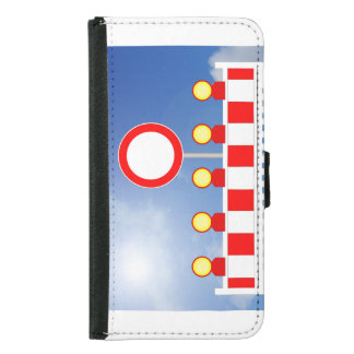 Building site closing and passage forbade Schil Samsung Galaxy S5 Wallet Case