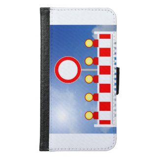 Building site closing and passage forbade Schil Samsung Galaxy S6 Wallet Case