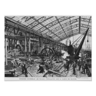 Building site of the Galerie des Machines Poster