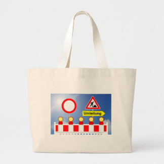 Building site passage forbade and bypass large tote bag