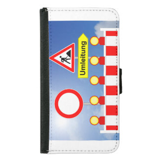 Building site passage forbade and bypass samsung galaxy s5 wallet case