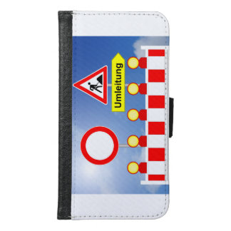 Building site passage forbade and bypass samsung galaxy s6 wallet case