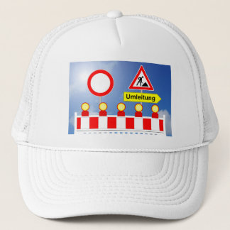 Building site passage forbade and bypass trucker hat