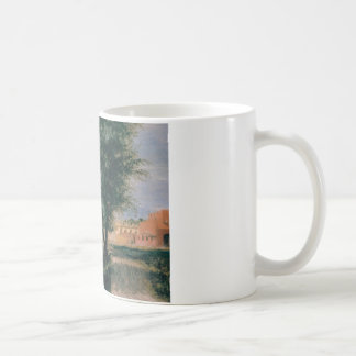 Building Site with Willows - Adolph Menzel 1846 Coffee Mug