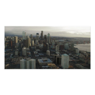 Building space needle Seattle Photo Greeting Card