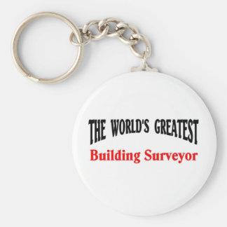 Building surveyor basic round button key ring