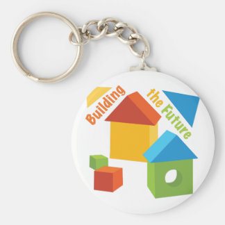 Building The Future Basic Round Button Key Ring