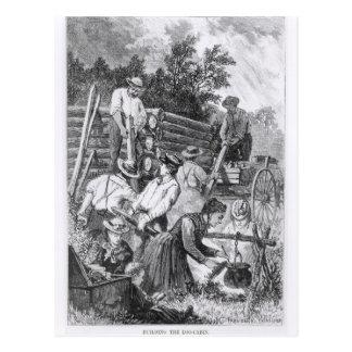 Building the Log-Cabin Postcard
