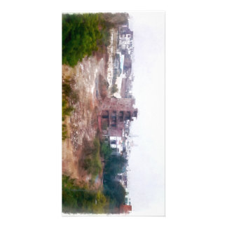 Building under construction picture card
