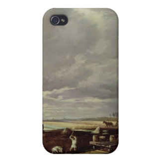 Building Work on a Railway Line, 1871 iPhone 4 Case