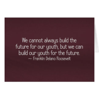 Building youth for the future (2) card