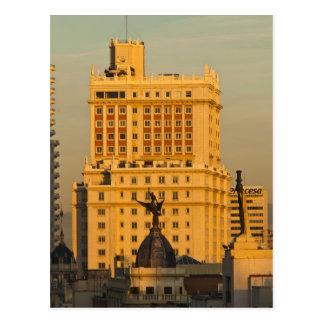 Buildings along Gran Via and Edificio Espana Postcard