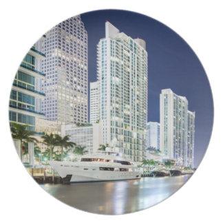 Buildings along the Miami River Riverwalk Plate