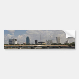 Buildings and bridge over Marina reservoir Bumper Stickers