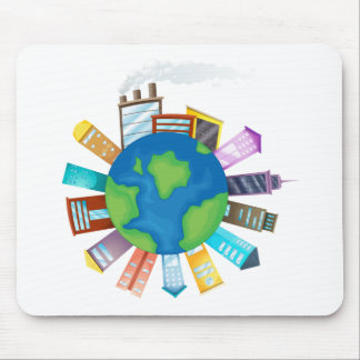 Buildings and Earth Mouse Pad