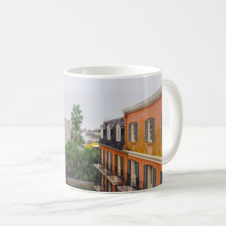 Buildings and Palm Trees in New Orleans Coffee Mug