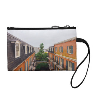 Buildings and Palm Trees in New Orleans Coin Wallets