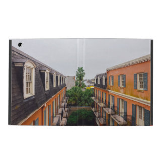 Buildings and Palm Trees in New Orleans iPad Case
