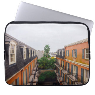 Buildings and Palm Trees in New Orleans Laptop Sleeve