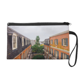 Buildings and Palm Trees in New Orleans Wristlet Purse