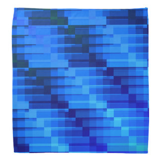 Buildings At Night Blue Modern Abstract Bandana