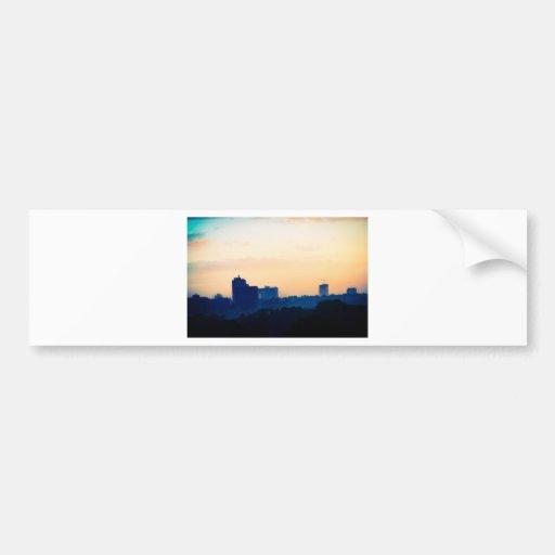 Buildings at Sunset Bumper Sticker