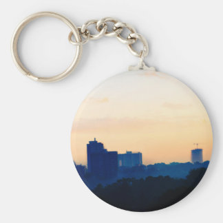 Buildings at Sunset Keychains