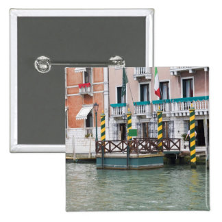 Buildings at the waterfront in Venice, Italy 15 Cm Square Badge