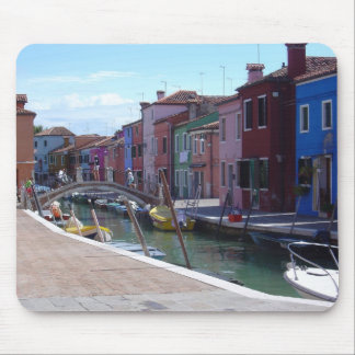 Buildings in Burano, Venice Mouse Pad