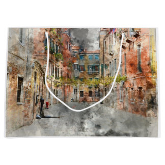Buildings in Romantic Venice Italy Large Gift Bag