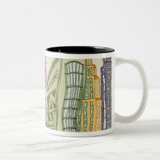 Buildings Two-Tone Mug