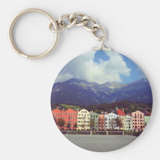 Buildings on a River Key Chains
