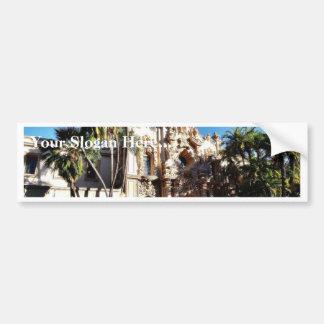 Buildings On The Prado In Balboa Park San Diego Bumper Stickers