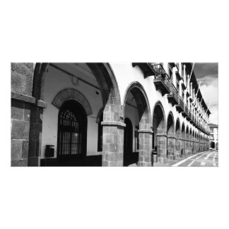 Buildings with arches customised photo card