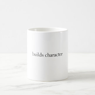 builds character basic white mug