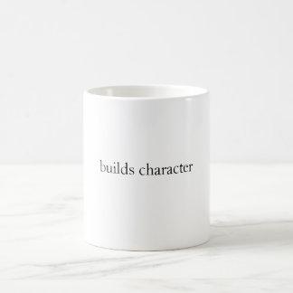 builds character basic white mug