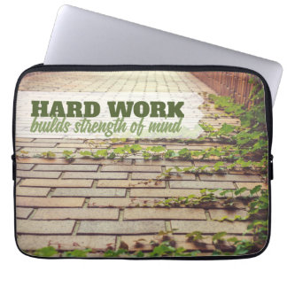Builds Strength Of Mind Laptop Sleeve