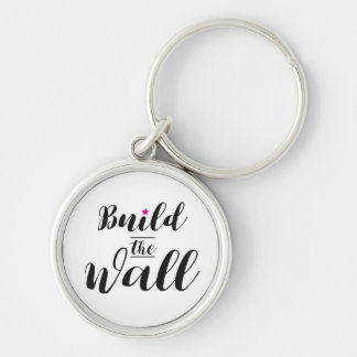 #BuildTheWall Build the Wall MAGA Trump Hashtag US Key Ring