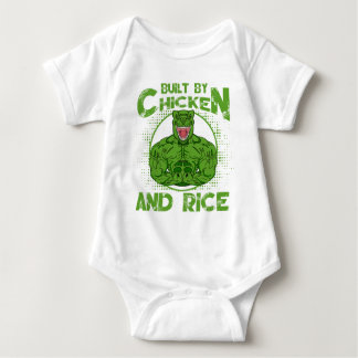 Built By Chicken And Rice bodybuilding fitness Baby Bodysuit