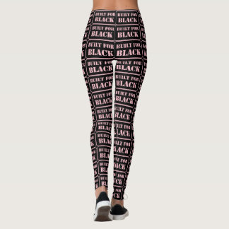 Built for Black pink Leggings