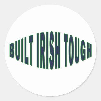 Built Irish Tough Classic Round Sticker