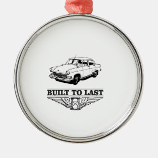 built to last car Silver-Colored round decoration