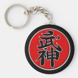 Bujinkan 5th Dan Basic Round Button Key Ring