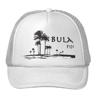 Bula Fiji Palm Tree Graphic Hats